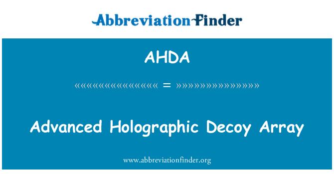 AHDA: Señuelo holográfica avanzada matriz