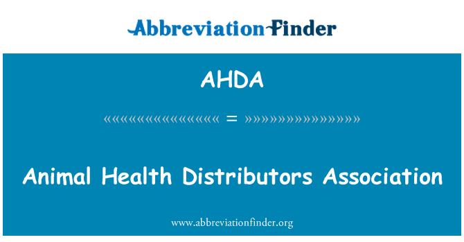 AHDA: Asociación de distribuidores de salud animal