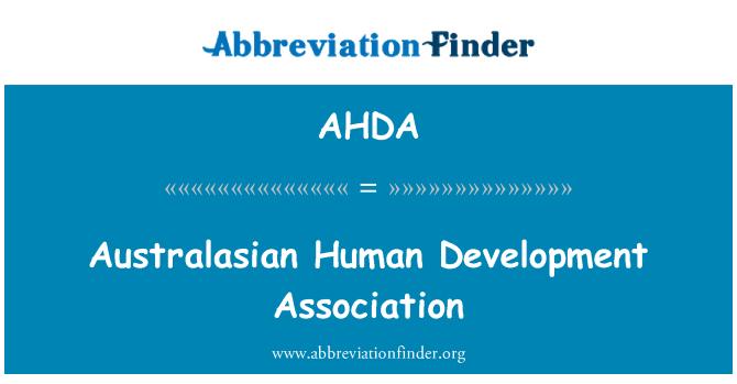 AHDA: Asociación para el desarrollo humano Australasia