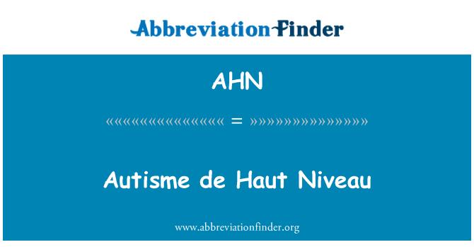 AHN: Autisme de Haut Niveau