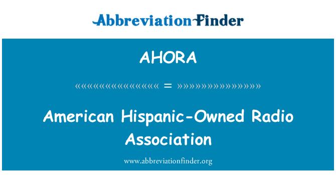 AHORA: American Hispanic-Owned Radio Association