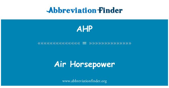 AHP: Õhu hobujõudu