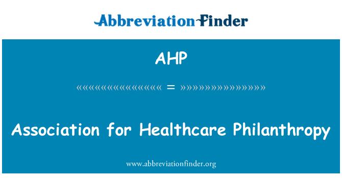 AHP: Sağlık hayırseverlik Derneği