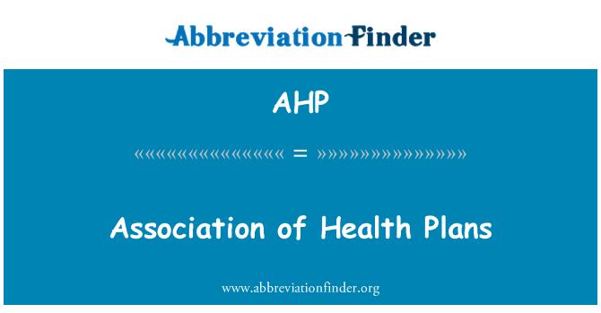 AHP: Sağlık planları Derneği
