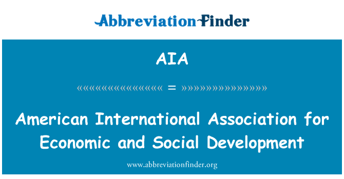 AIA: American International Association for Economic and Social Development