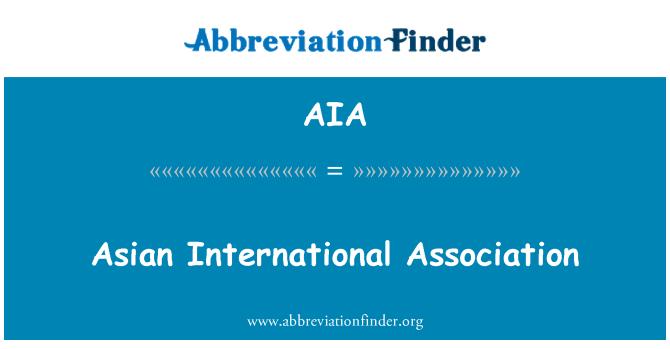 AIA: Asian International Association