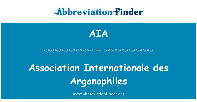AIA: Association Internationale des Arganophiles