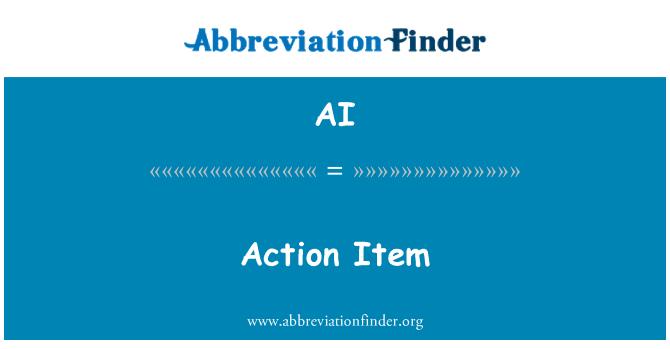 AI: Action Item