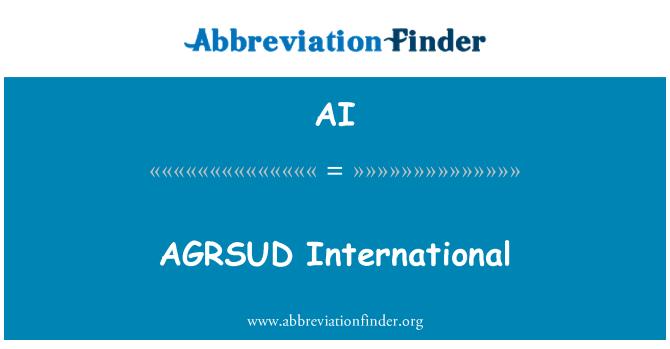 AI: AGRSUD International