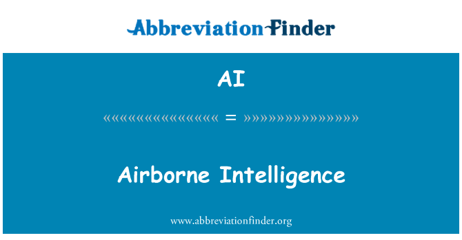 AI: Airborne Intelligence