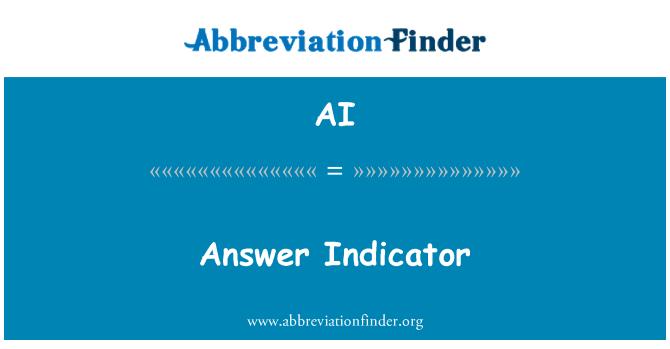 AI: Answer Indicator