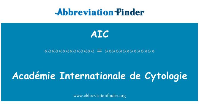 AIC: Académie Internationale de Cytologie