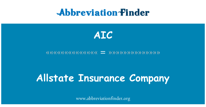 AIC: Allstate Insurance Company