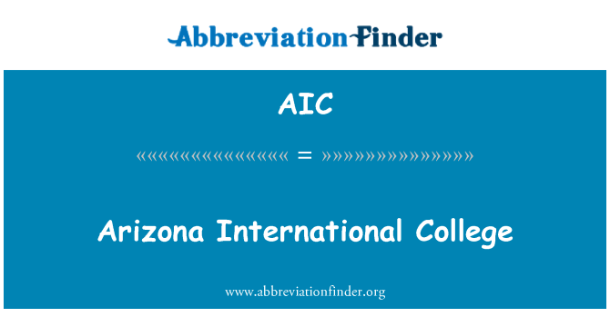 AIC: Arizona International College