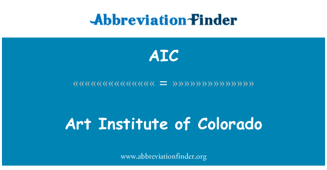 AIC: Art Institute of Colorado