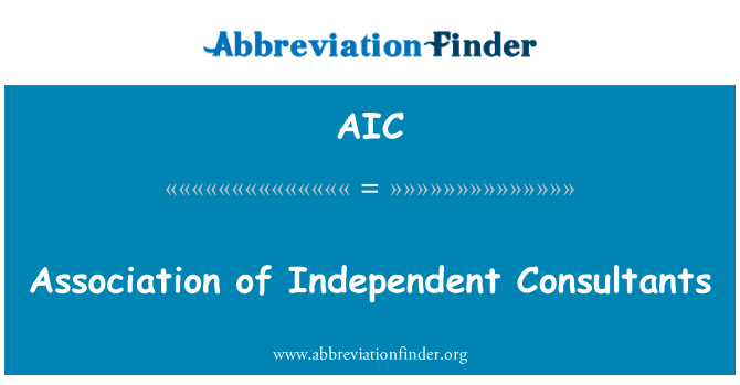AIC: Association of Independent Consultants