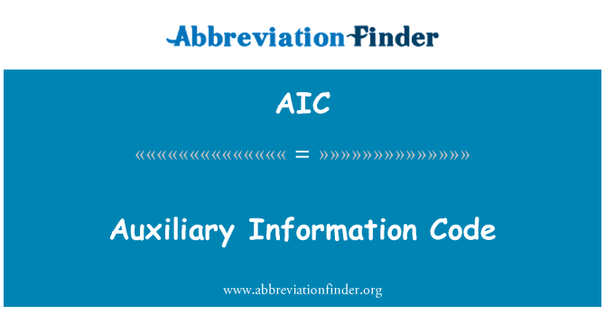 AIC: Auxiliary Information Code