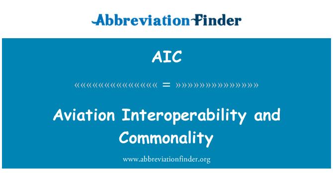 AIC: Aviation Interoperability and Commonality
