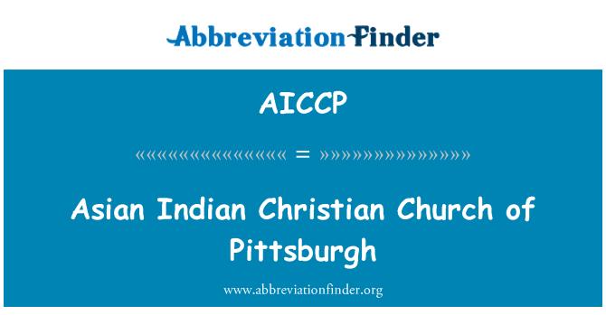 AICCP: Asian Indian Christian Church of Pittsburgh