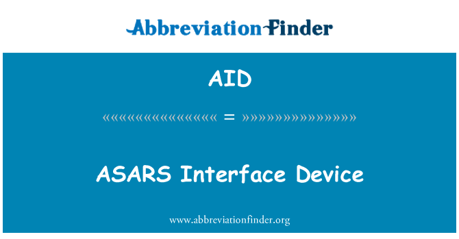 AID: ASARS Interface Device