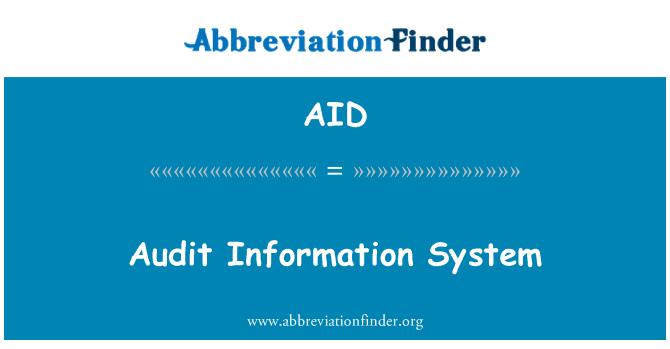 AID: Audit Information System