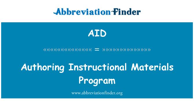 AID: Authoring Instructional Materials Program