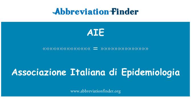 AIE: Associazione Italiana di Epidemiologia