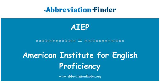AIEP: American Institute for English Proficiency