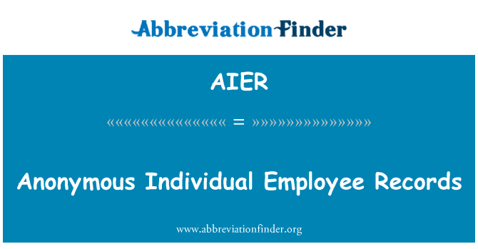 AIER: Anonymous Individual Employee Records