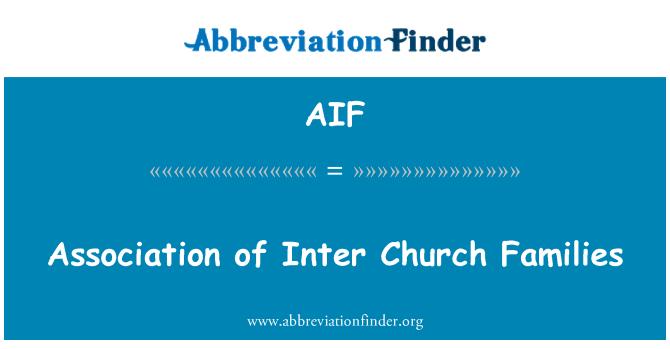 AIF: Association of Inter Church Families