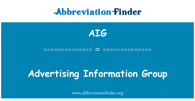 AIG: Advertising Information Group