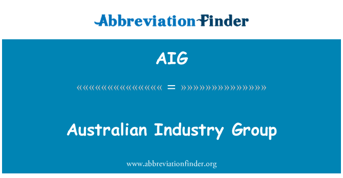 AIG: Australian Industry Group