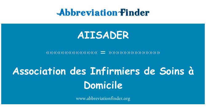 AIISADER: Association des Infirmiers de Soins à Domicile