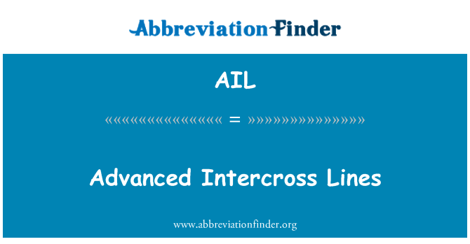 AIL: Advanced Intercross Lines