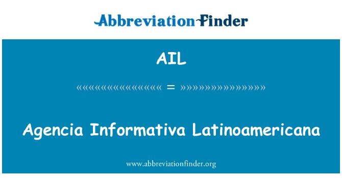 AIL: Agencia Informativa Latinoamericana