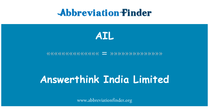 AIL: Answerthink India Limited