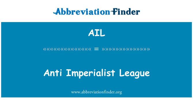 AIL: Anti Imperialist League