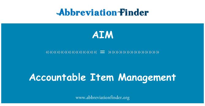 AIM: Accountable Item Management
