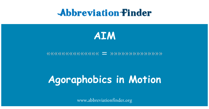 AIM: Agoraphobics in Motion