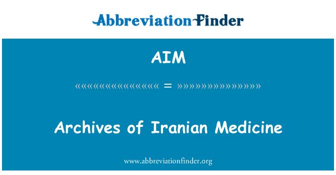 AIM: Archives of Iranian Medicine