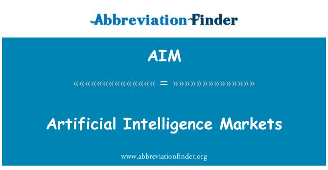 AIM: Artificial Intelligence Markets