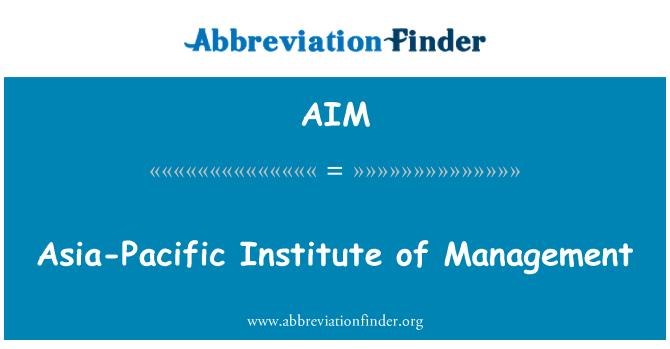 AIM: Asia-Pacific Institute of Management