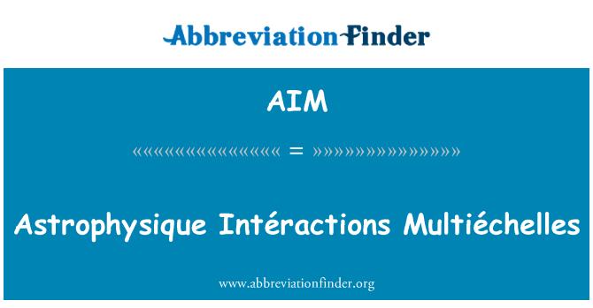 AIM: Astrophysique Intéractions Multiéchelles