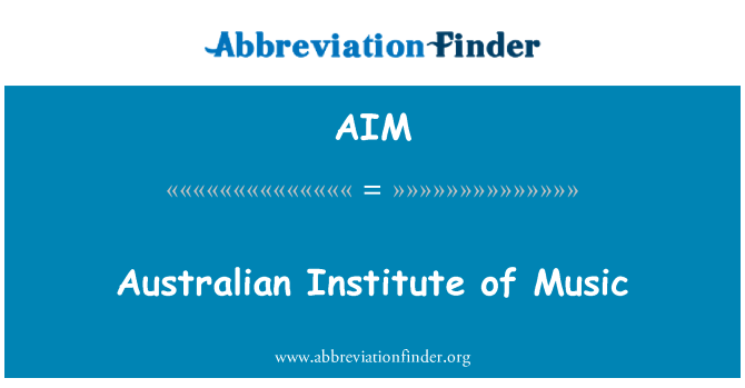 AIM: Australian Institute of Music