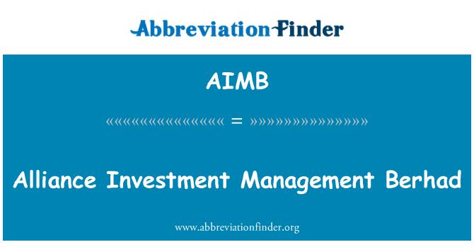 AIMB: Alliance Investment Management Berhad