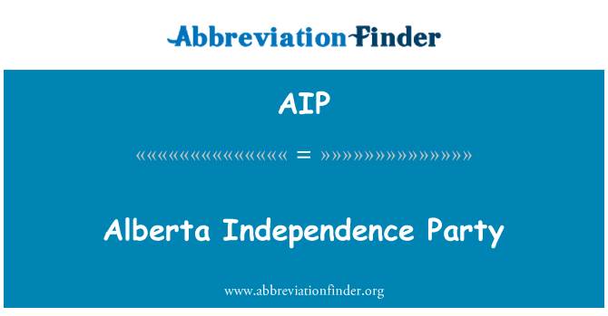 AIP: Alberta Independence Party