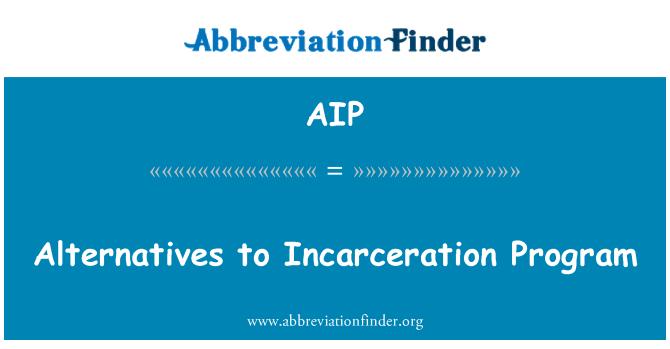 AIP: Alternatives to Incarceration Program