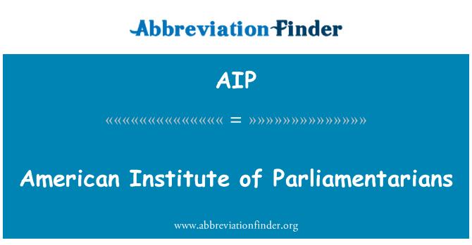 AIP: American Institute of Parliamentarians