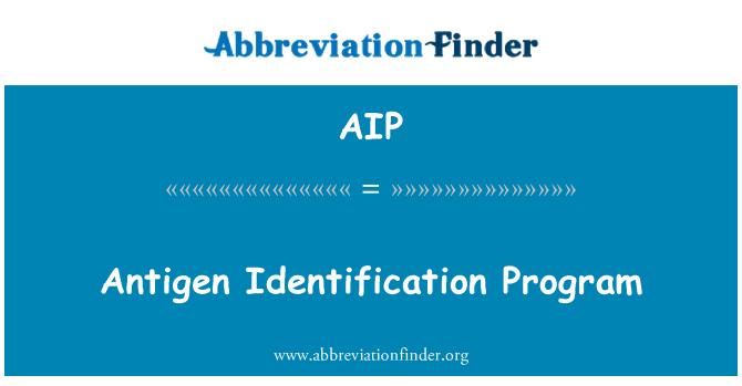 AIP: Antigen Identification Program