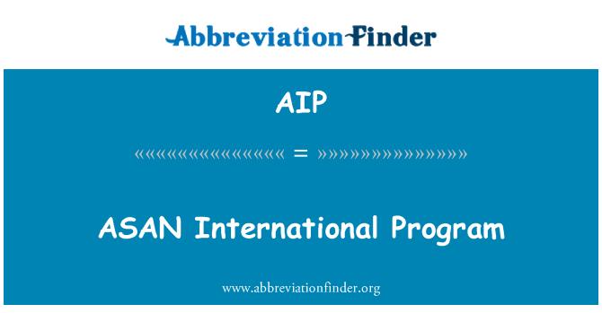 AIP: ASAN International Program